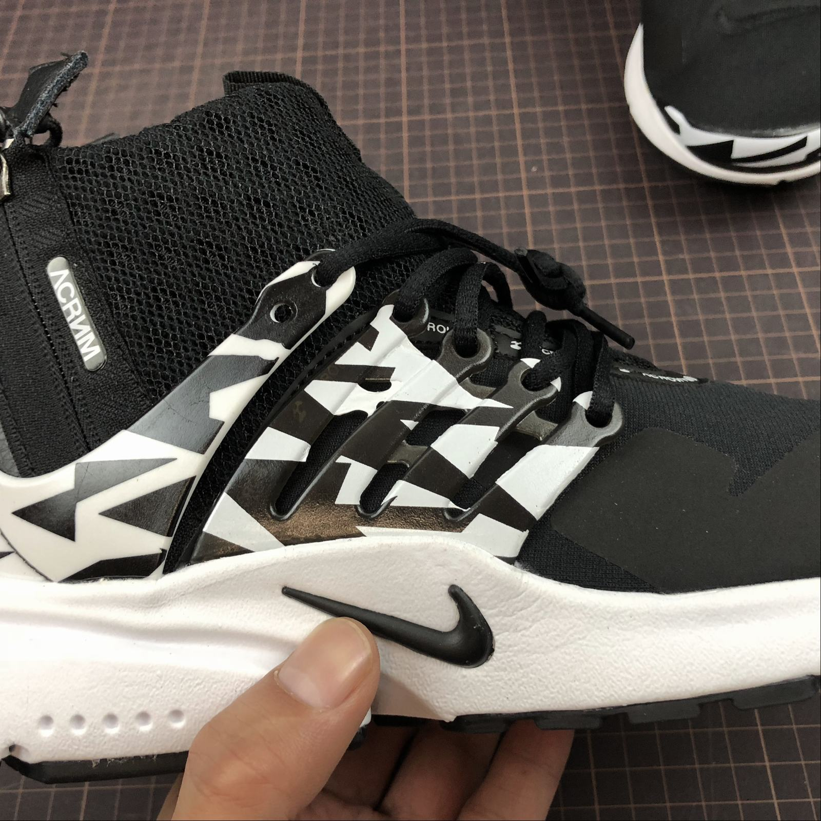 Мужские кроссовки Nike Air Presto Mid Acronym Men Black,White,Black - фото №10