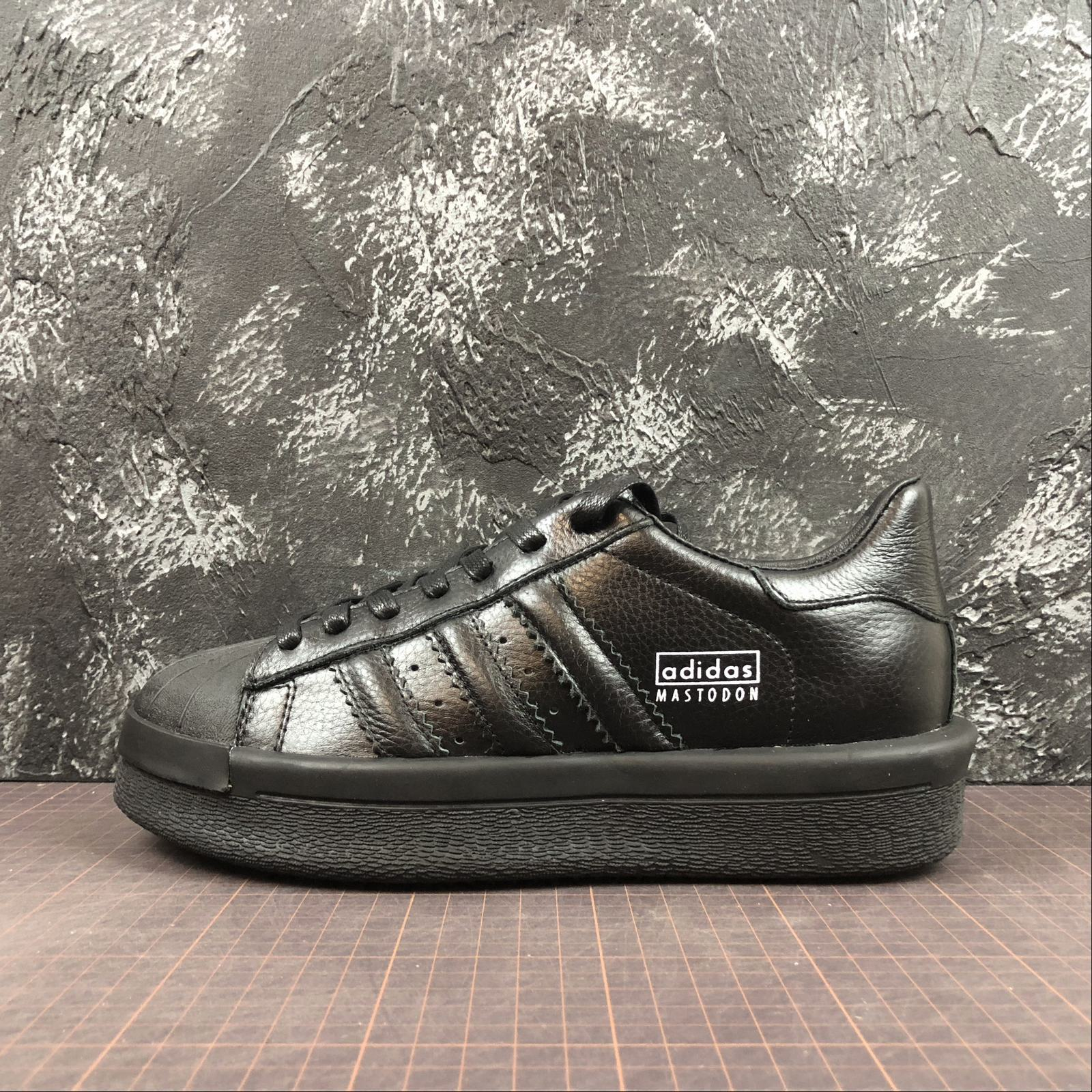 Женские кроссовки Rick Owens x Adidas Mastodon Pro Model Ro Pearl low-top Women Black,Black with line