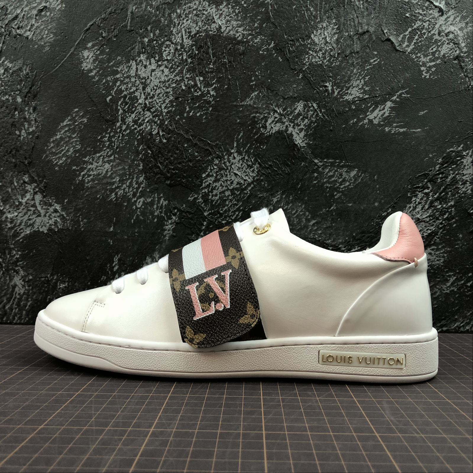 Женские кроссовки Louis Vuitton Frontrow White,Pink
