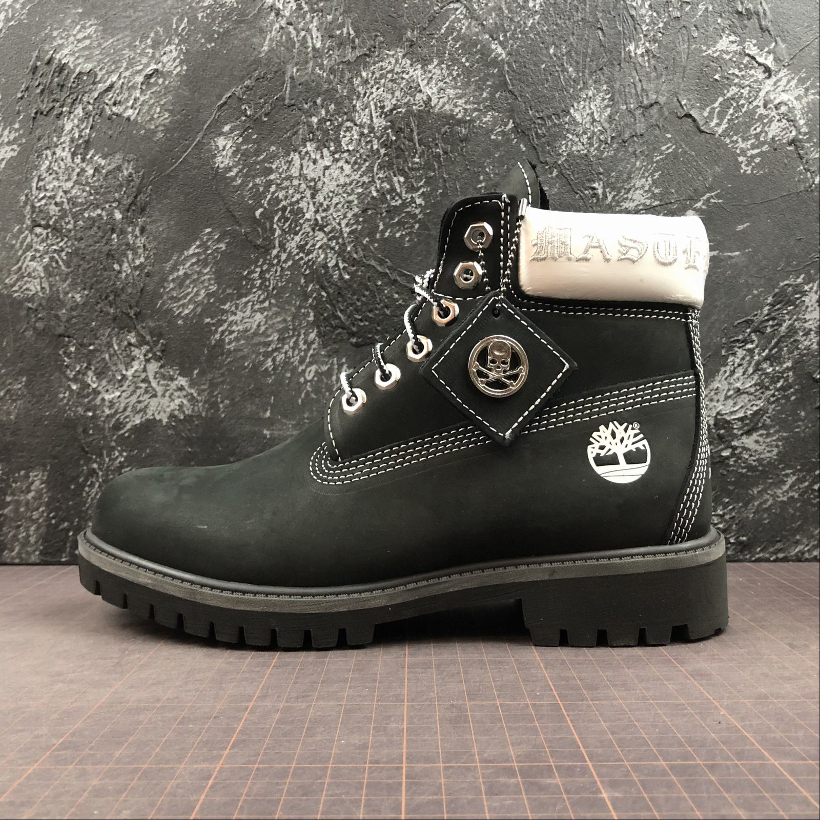 Зимние мужские ботинки Timberland x Mastermind Japan 5-Inch Zip Waterproof Boots Black