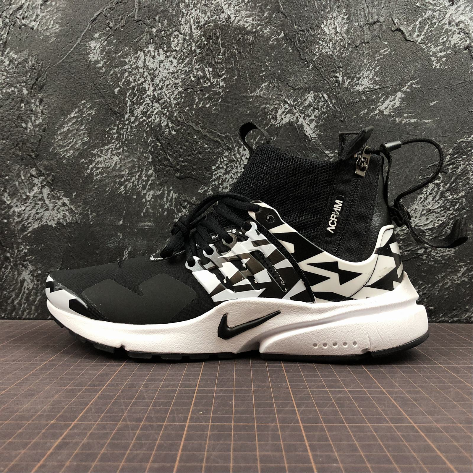 Мужские кроссовки Nike Air Presto Mid Acronym Men Black,White,Black