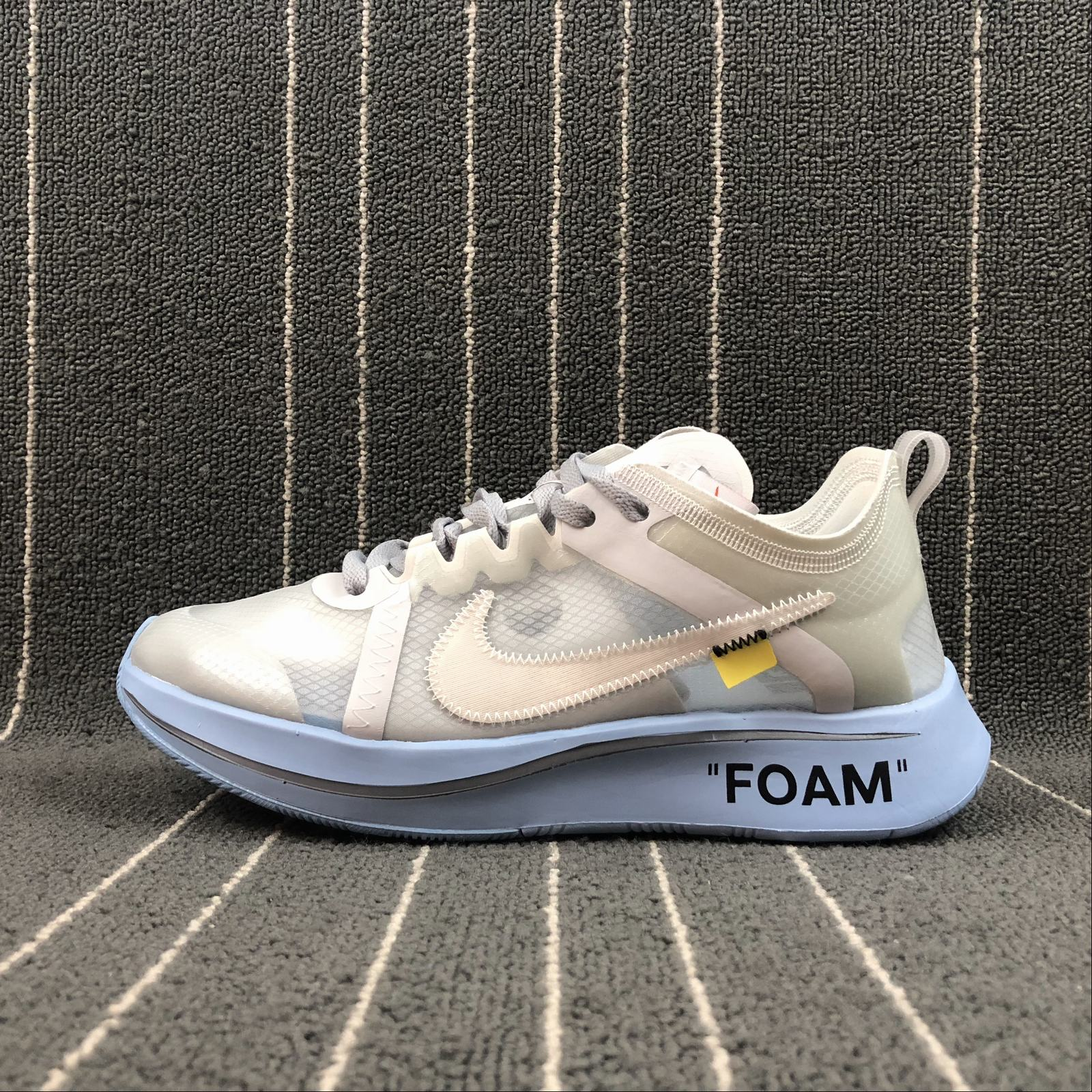 Женские кроссовки Nike Zoom Fly x Off-White Women White,Jade