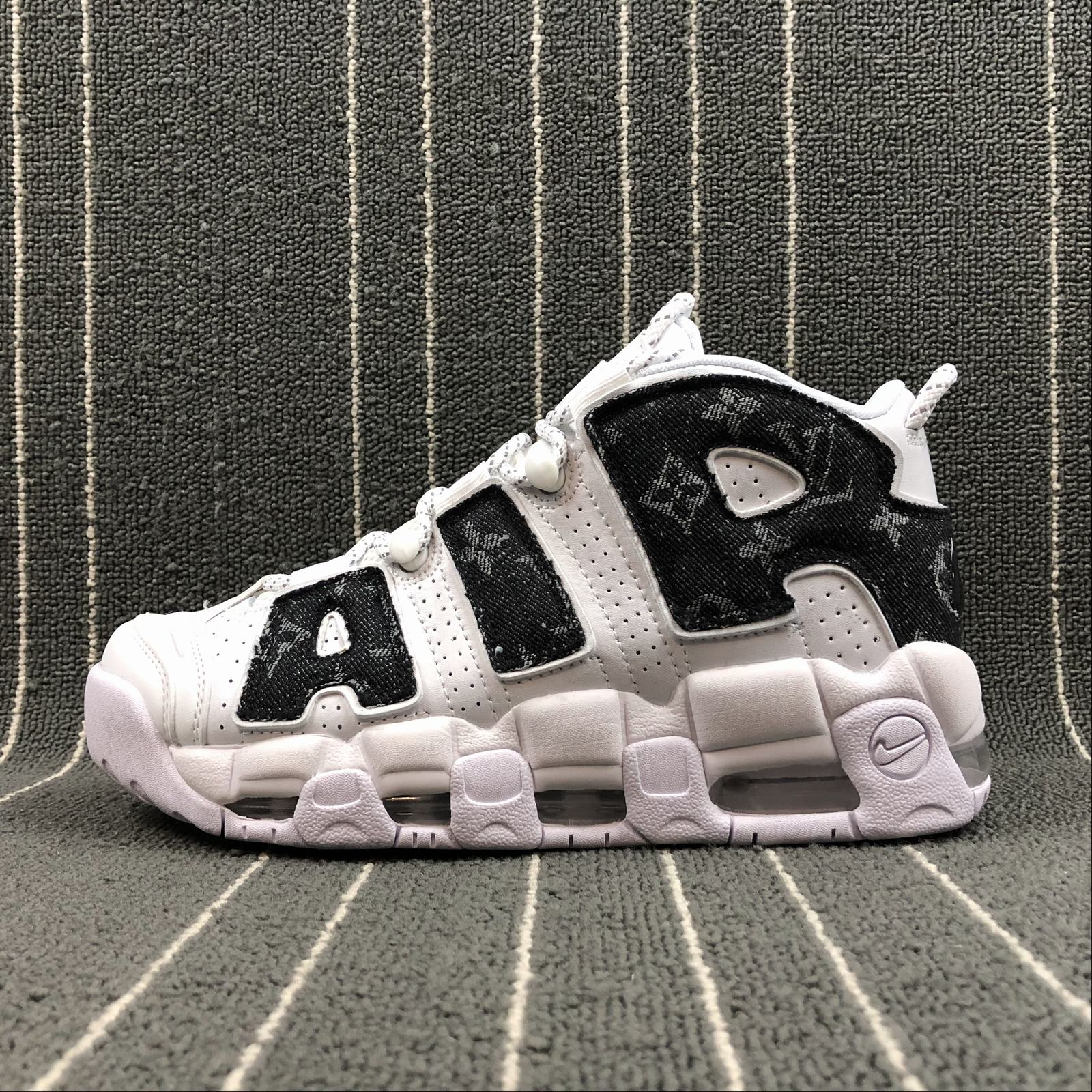 Женские кроссовки Nike Air More Uptempo 96 Women White,Black jeans