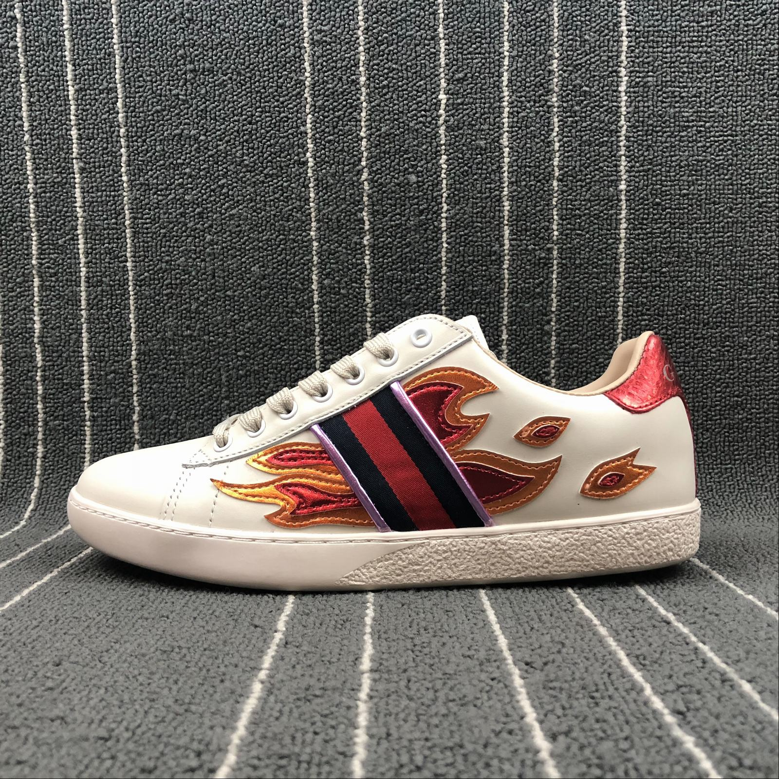 33c42dfab1f Мужские кроссовки Gucci Metallic Flame Men