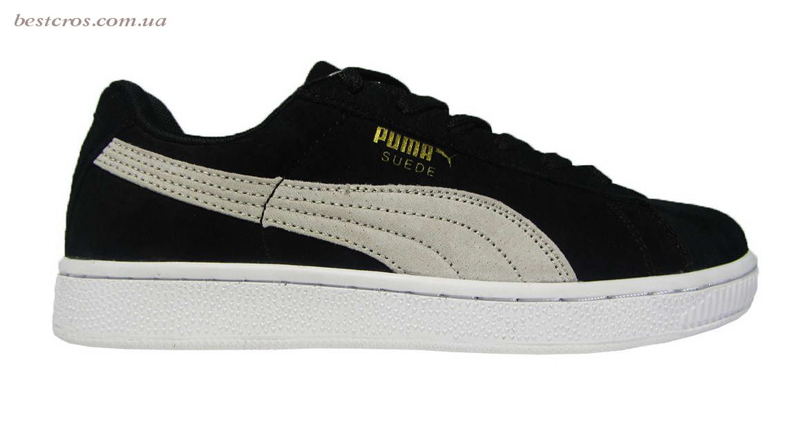 Женские кроссовки Puma Suede Creeper x Rihanna  Black/White