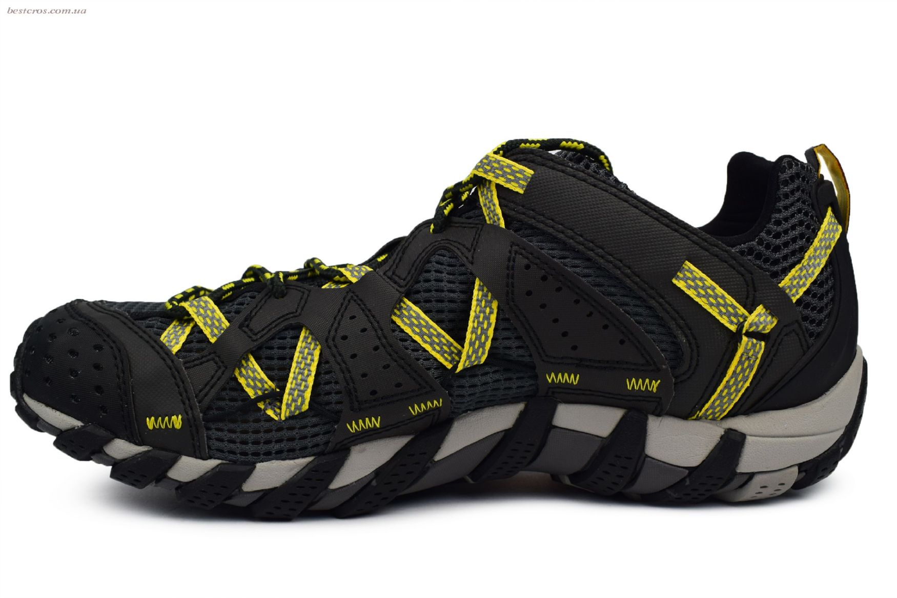 Мужские кроссовки Merrell Waterpro Maipo Black/Yellow - фото №2