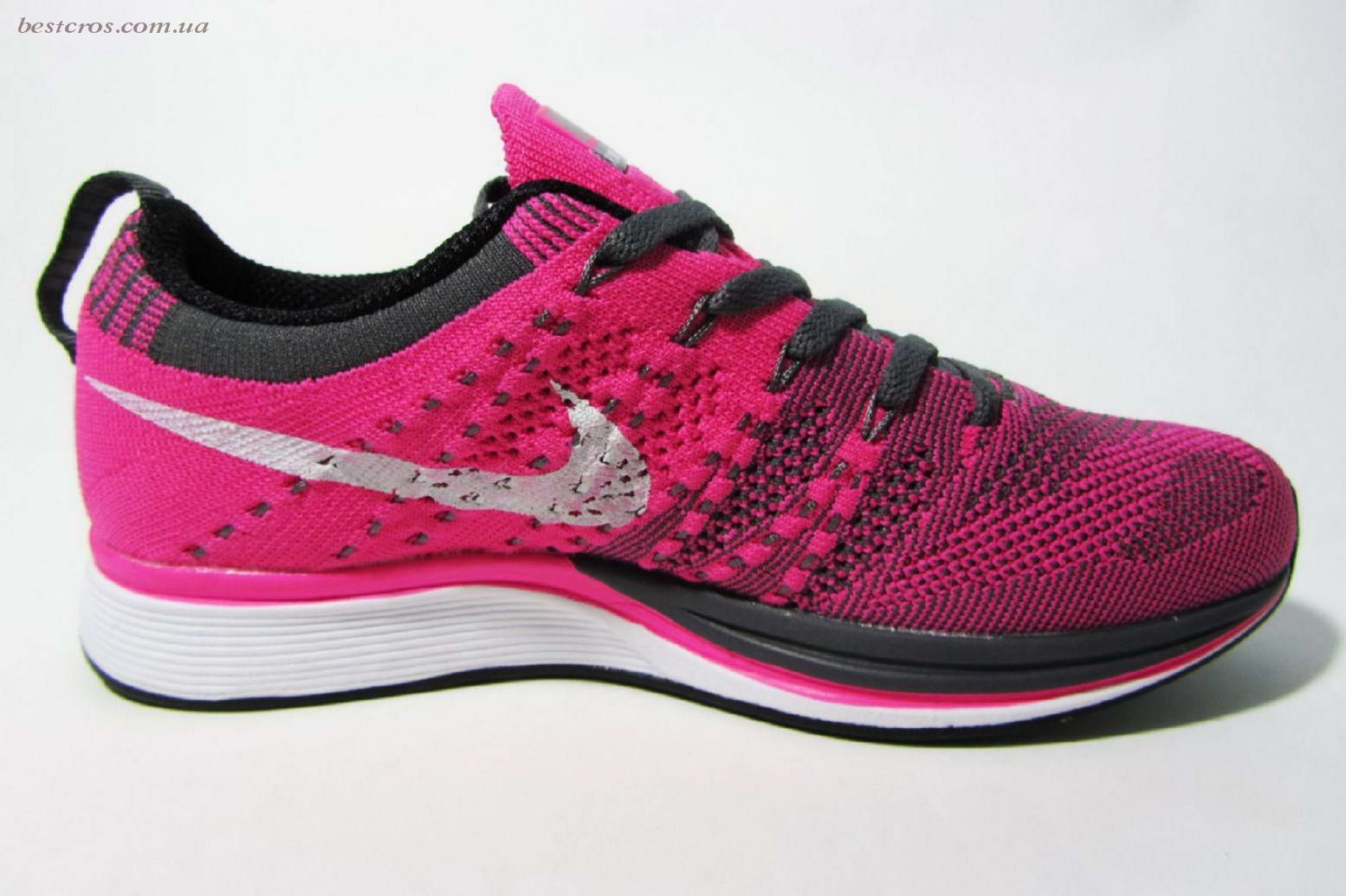 Женские кроссовки Nike Free Flyknit Pink/White  - фото №2