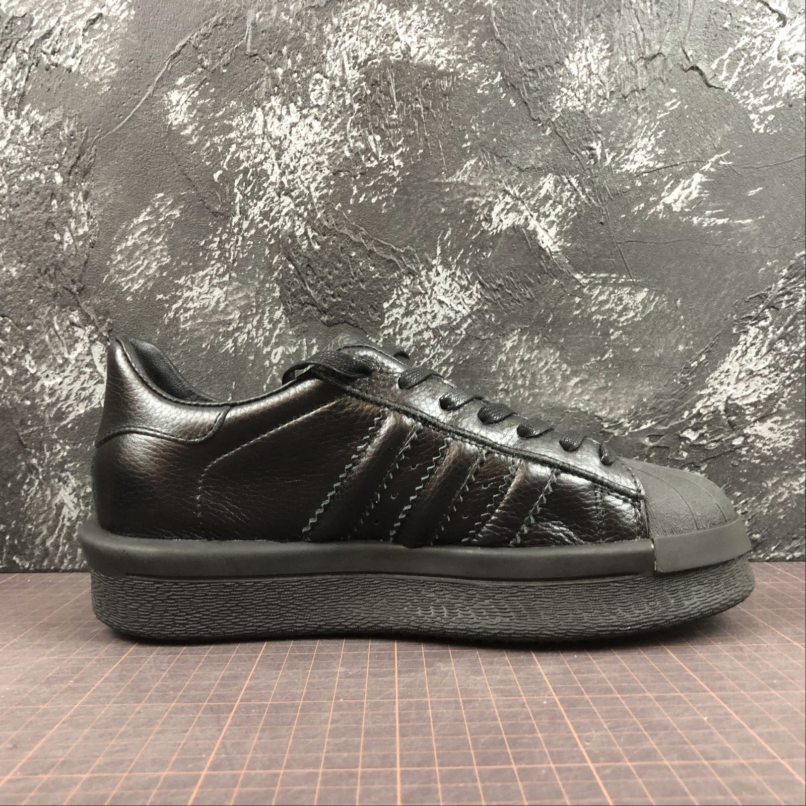 Женские кроссовки Rick Owens x Adidas Mastodon Pro Model Ro Pearl low-top Women Black,Black with line - фото №2
