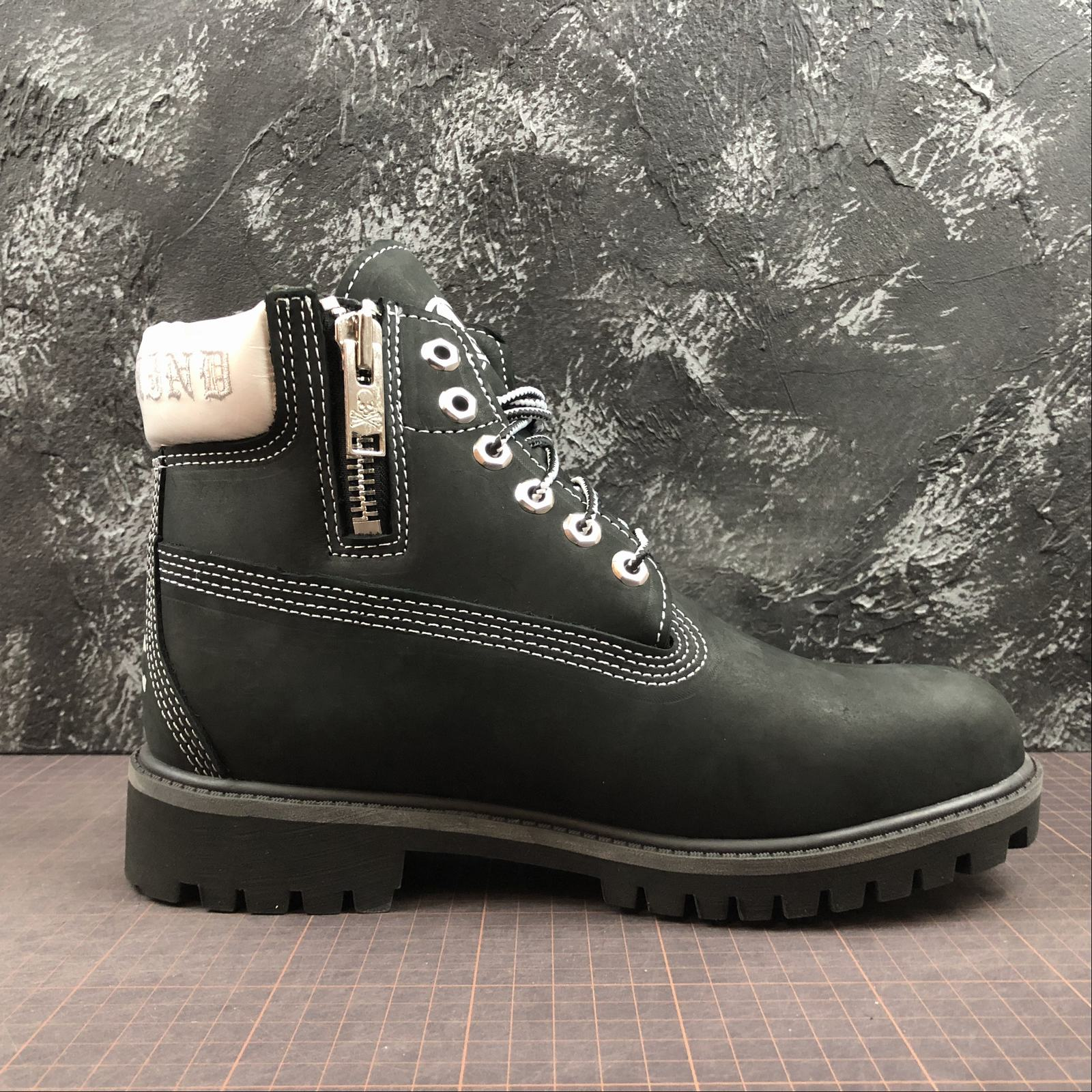 Зимние мужские ботинки Timberland x Mastermind Japan 5-Inch Zip Waterproof Boots Black - фото №2