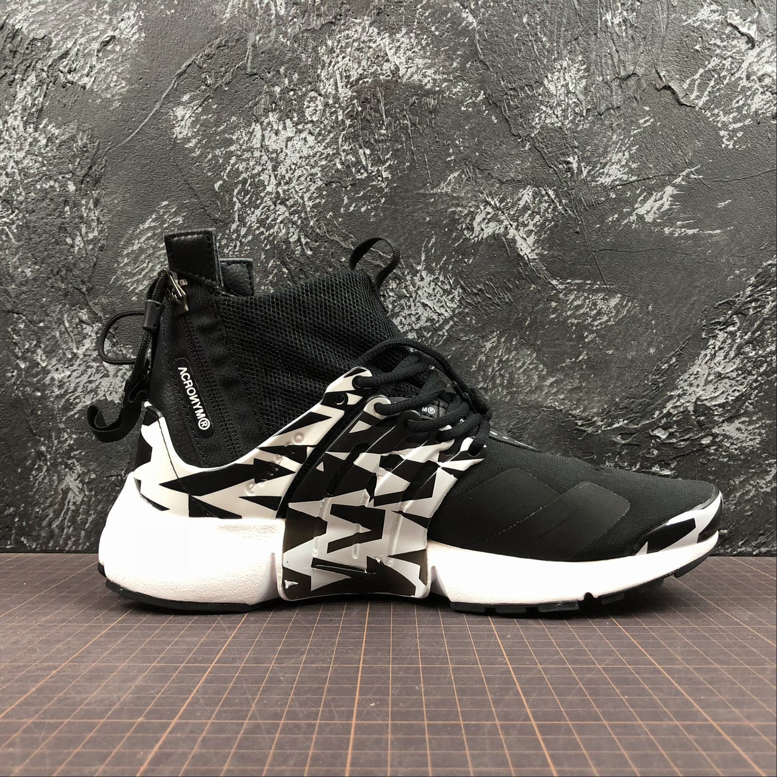 Мужские кроссовки Nike Air Presto Mid Acronym Men Black,White,Black - фото №2