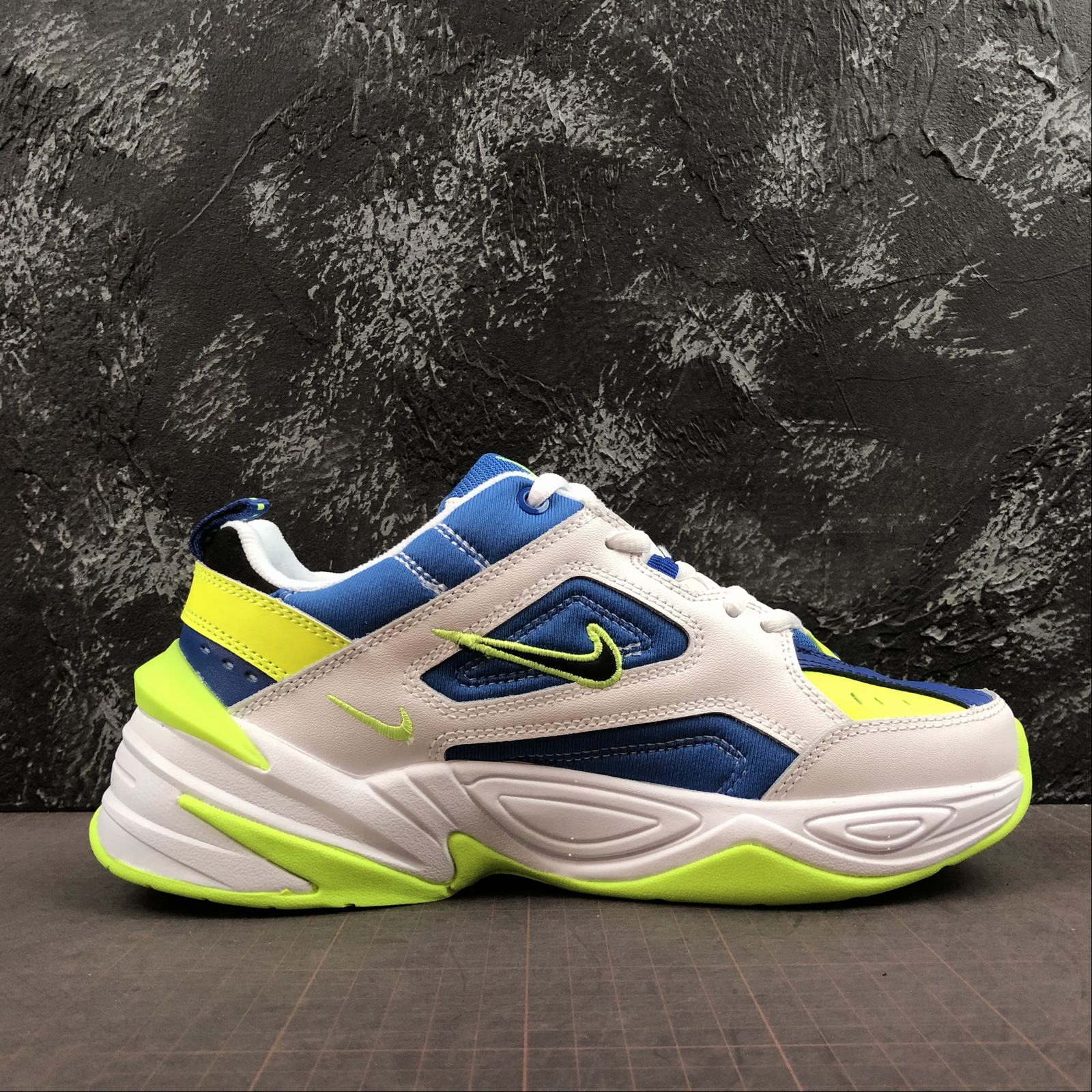 Мужские кроссовки Nike M2K Tekno Men White,Blue,Yellow - фото №2