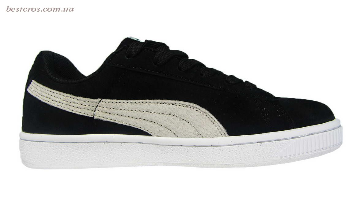 Женские кроссовки Puma Suede Creeper x Rihanna  Black/White - фото №2