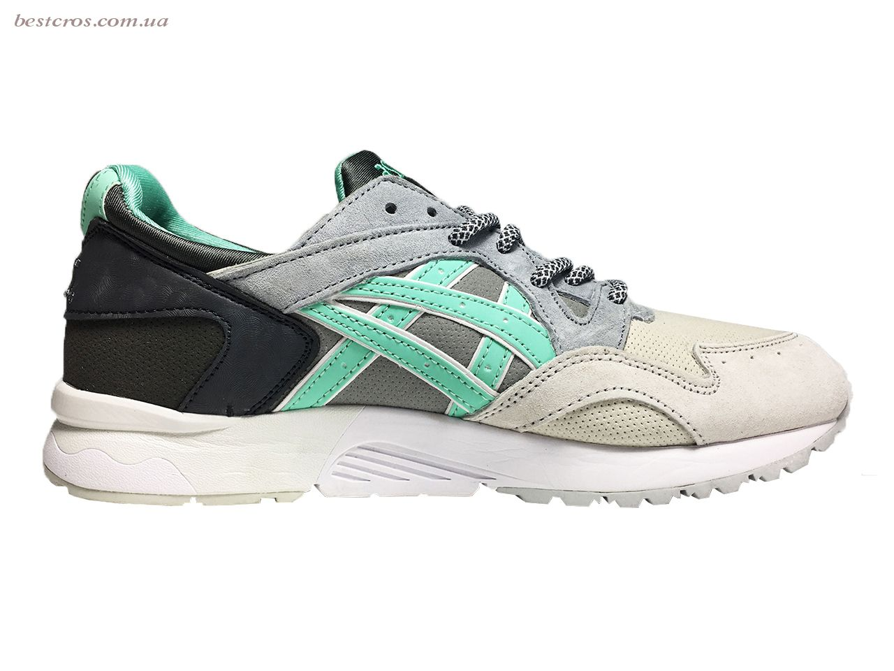 Мужские кроссовки Asics Gel Cream/Grey/Black/White/Light green - фото №2