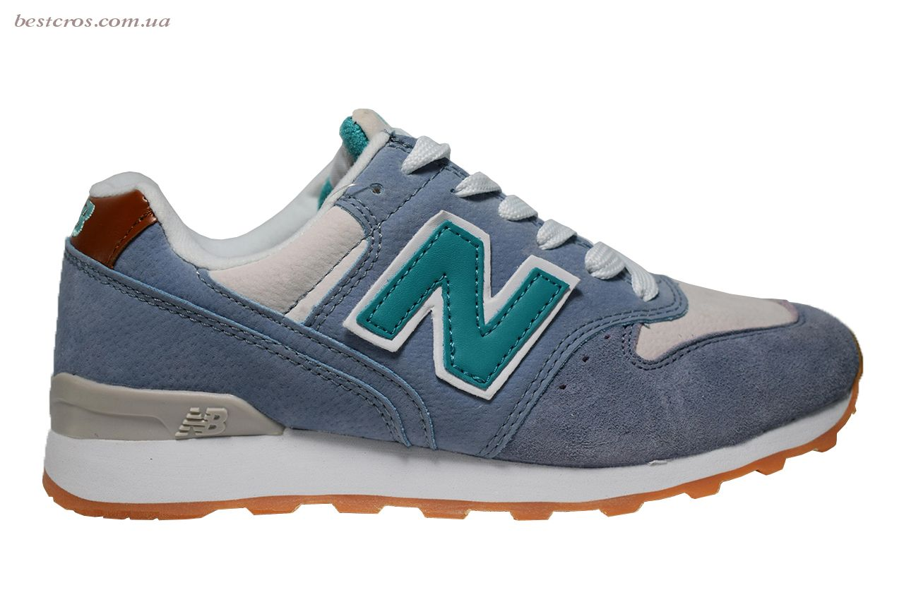 Женские кроссовки New Balance 576 Cream/Light blue/Grey - фото №2