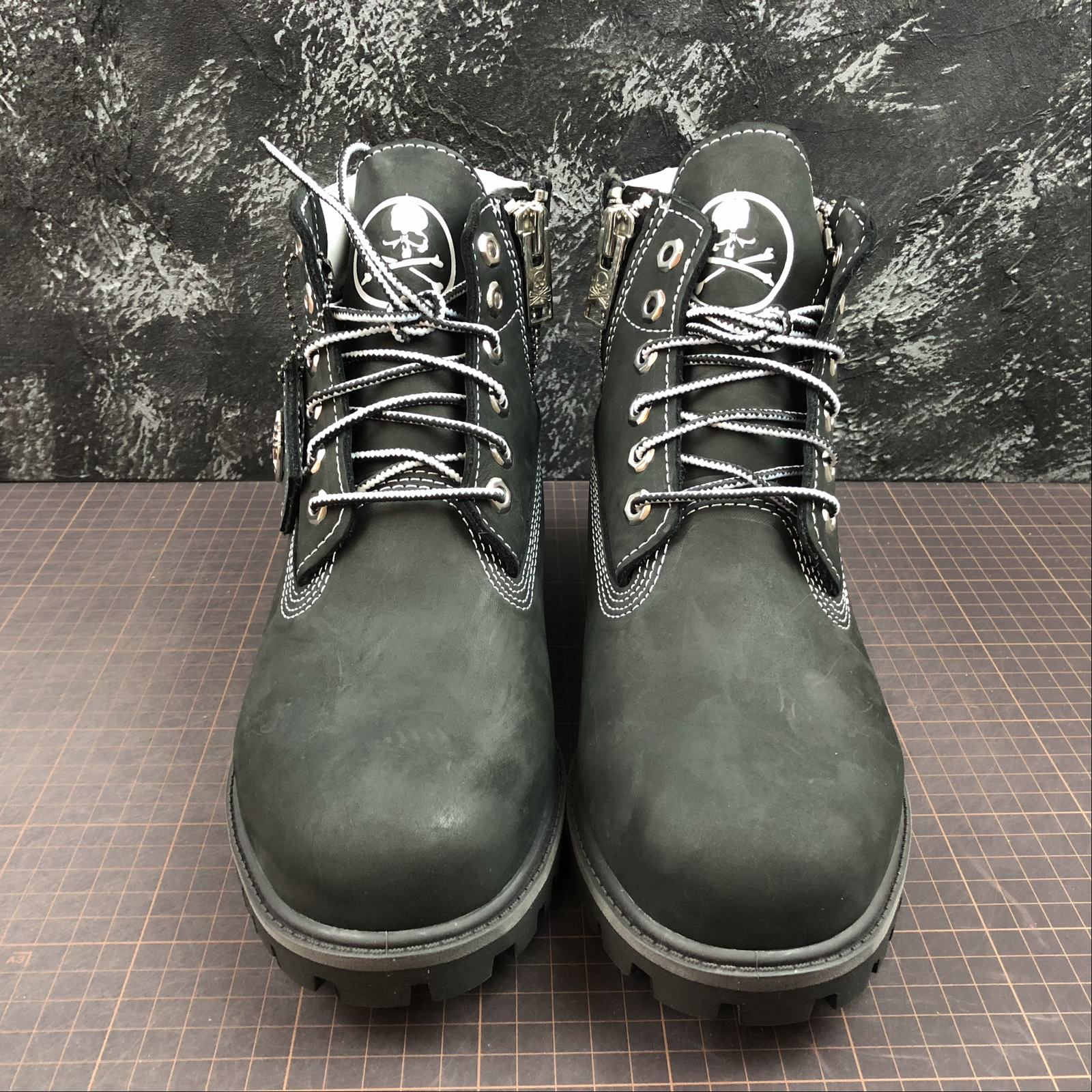 Зимние мужские ботинки Timberland x Mastermind Japan 5-Inch Zip Waterproof Boots Black - фото №3