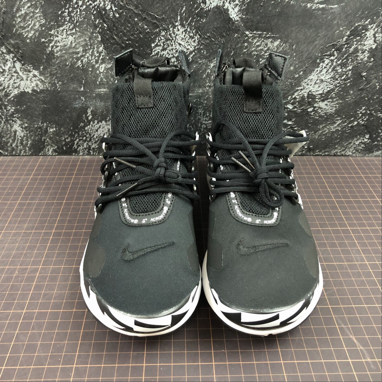 Мужские кроссовки Nike Air Presto Mid Acronym Men Black,White,Black - фото №3