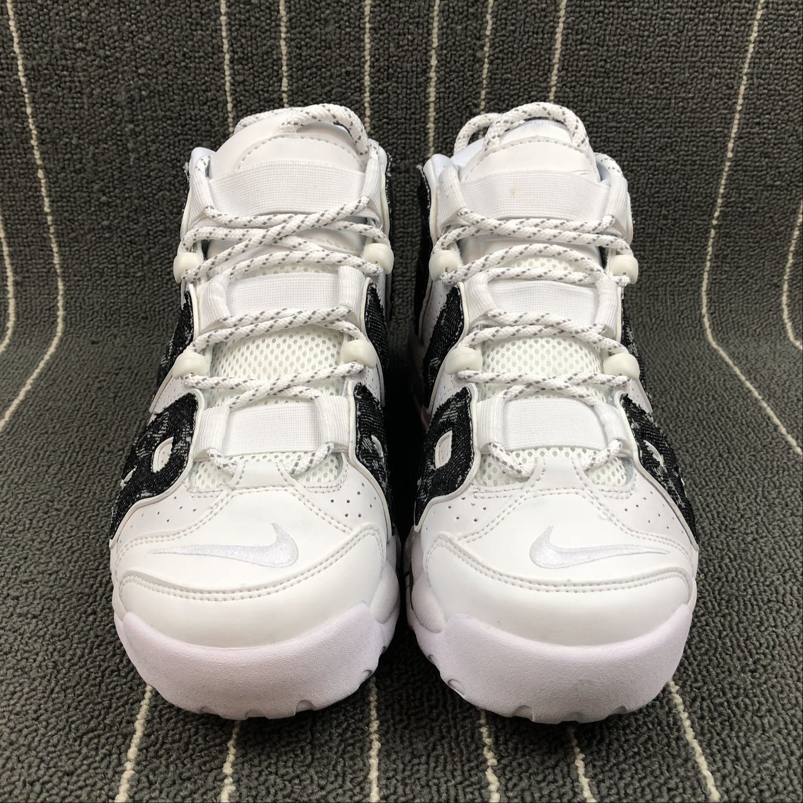 Женские кроссовки Nike Air More Uptempo 96 Women White,Black jeans - фото №3