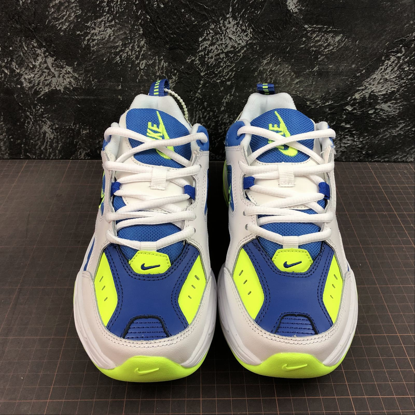 Мужские кроссовки Nike M2K Tekno Men White,Blue,Yellow - фото №3
