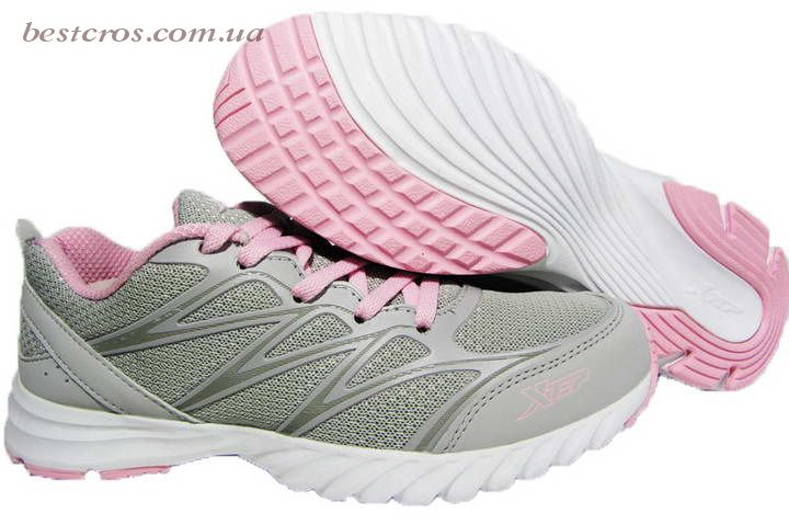 Женские кроссовки XTep Sports Shoes Light grey/Pink - фото №3