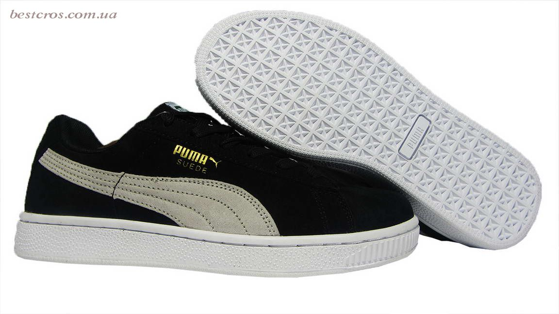 Женские кроссовки Puma Suede Creeper x Rihanna  Black/White - фото №3