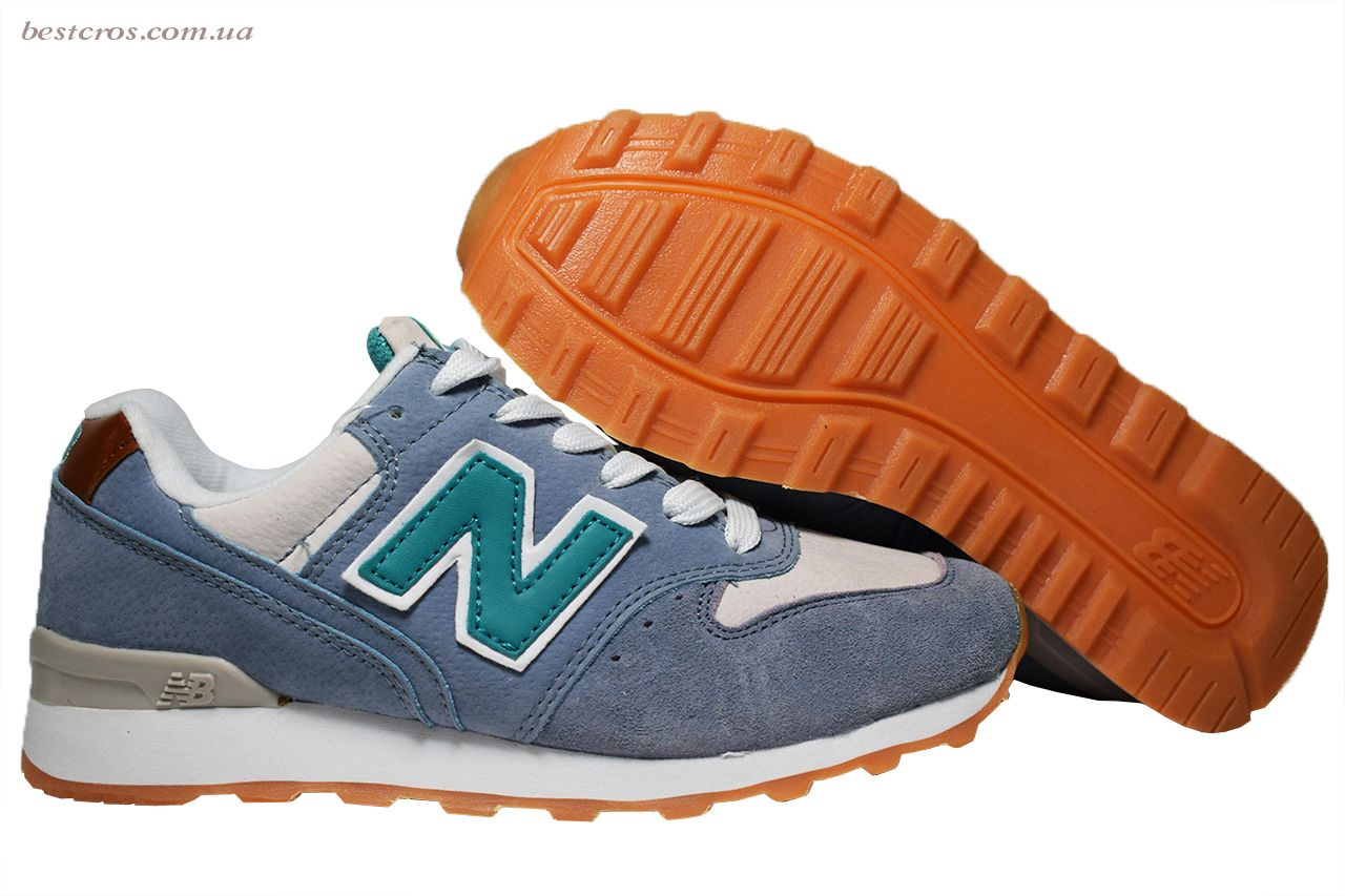 Женские кроссовки New Balance 576 Cream/Light blue/Grey - фото №3