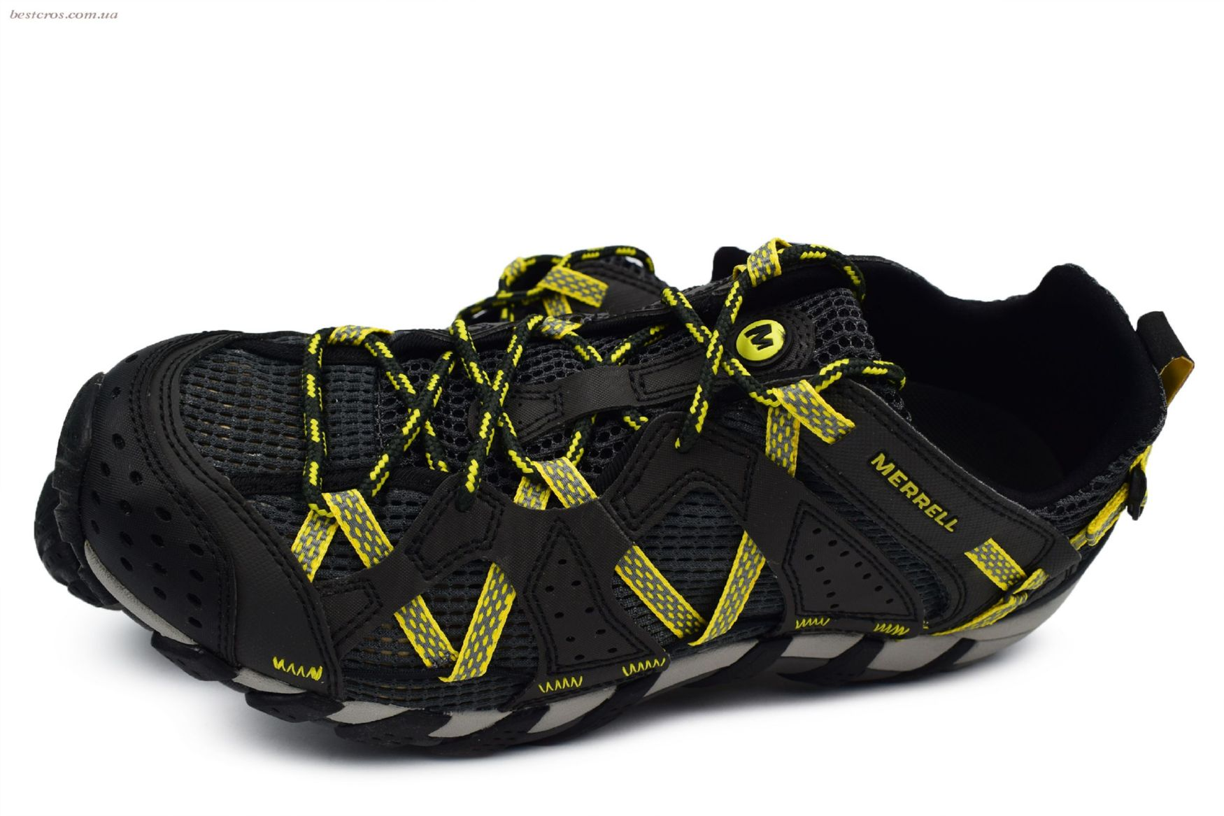Мужские кроссовки Merrell Waterpro Maipo Black/Yellow - фото №4