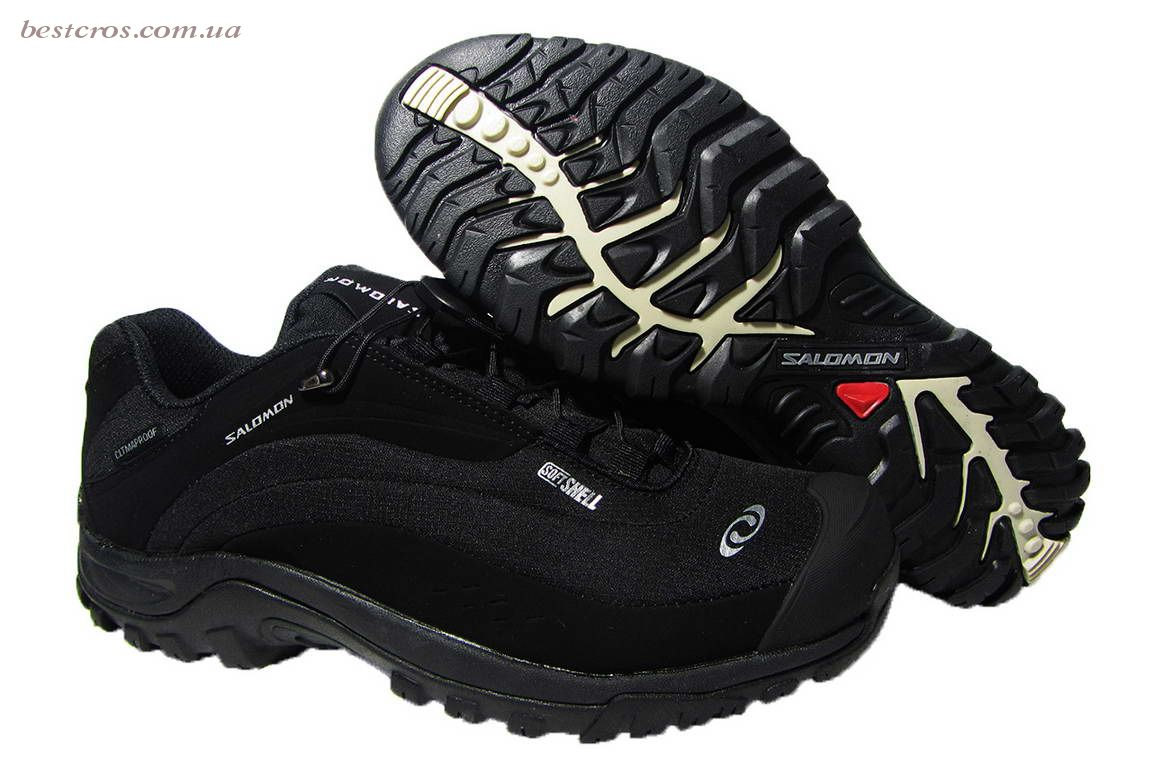 Мужские кроссовки  Salomon Gore-TEX Black/Light grey - фото №4