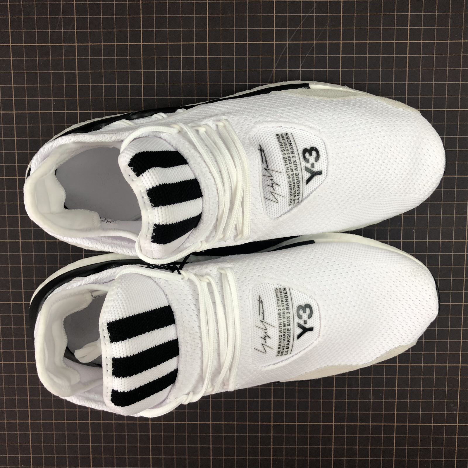 Мужские кроссовки Adidas Y-3 Saikou Boost Men White,Black,Black - фото №5