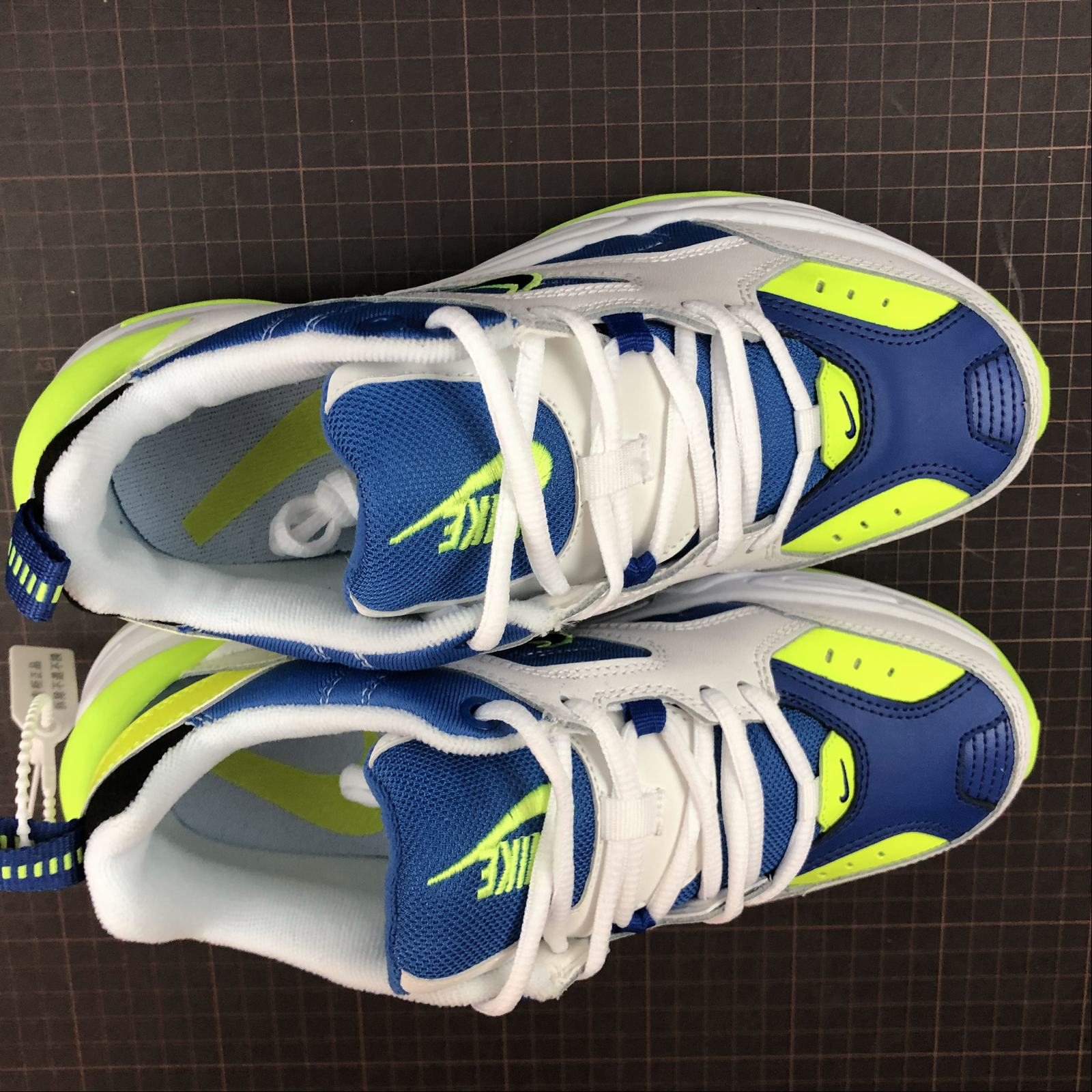 Мужские кроссовки Nike M2K Tekno Men White,Blue,Yellow - фото №5