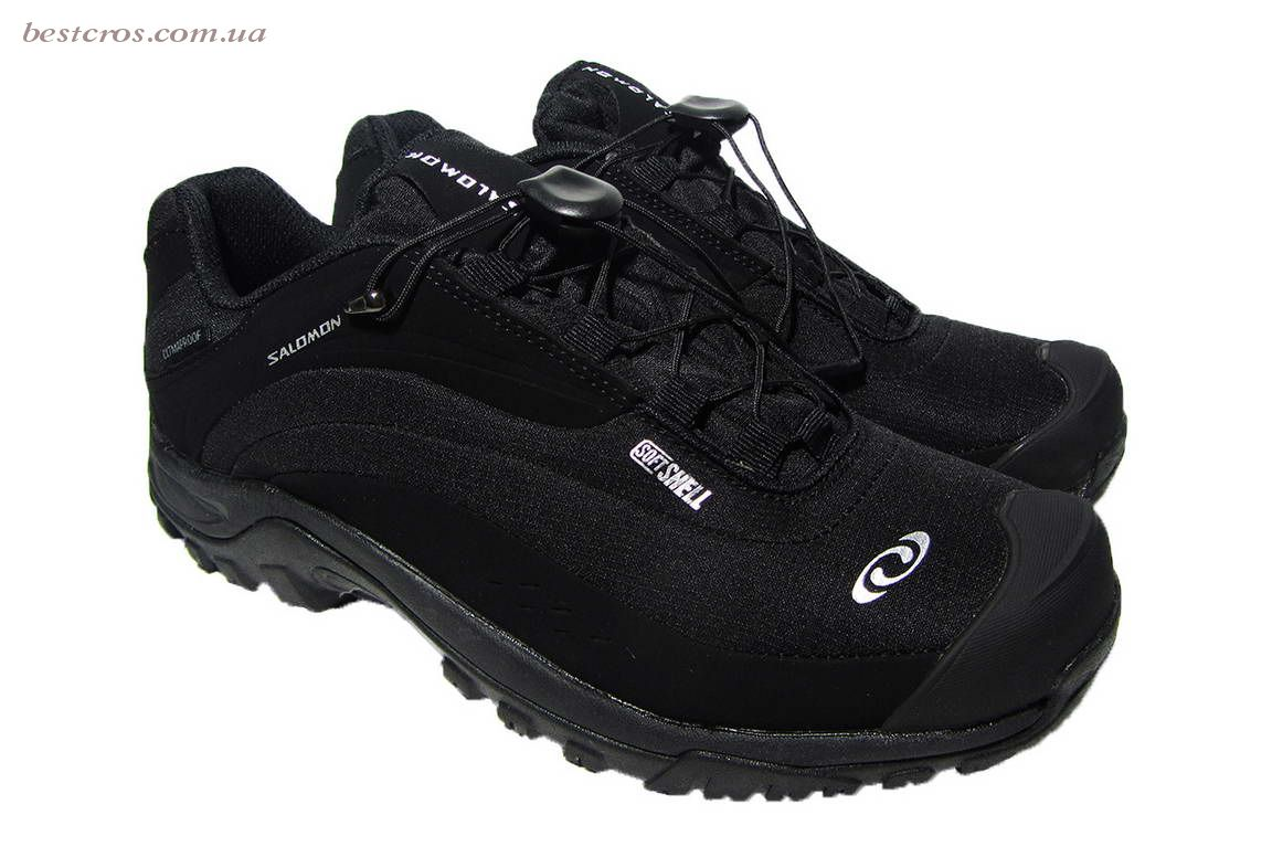 Мужские кроссовки  Salomon Gore-TEX Black/Light grey - фото №5