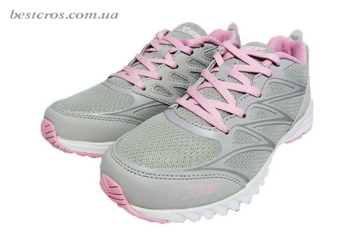 Женские кроссовки XTep Sports Shoes Light grey/Pink - фото №5