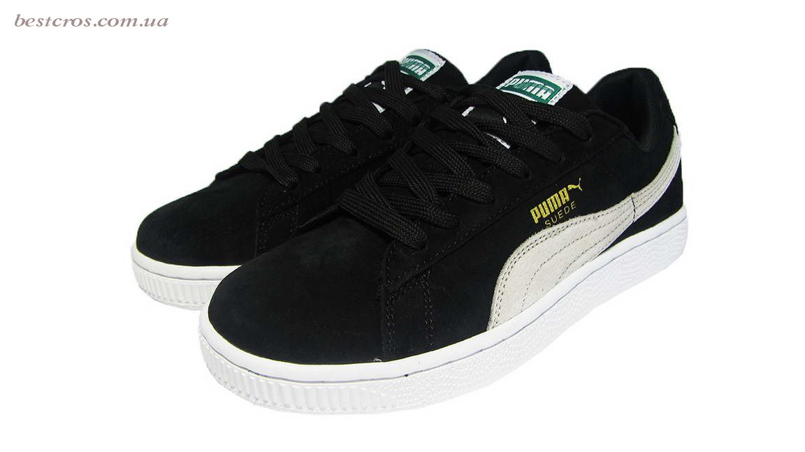 Женские кроссовки Puma Suede Creeper x Rihanna  Black/White - фото №5