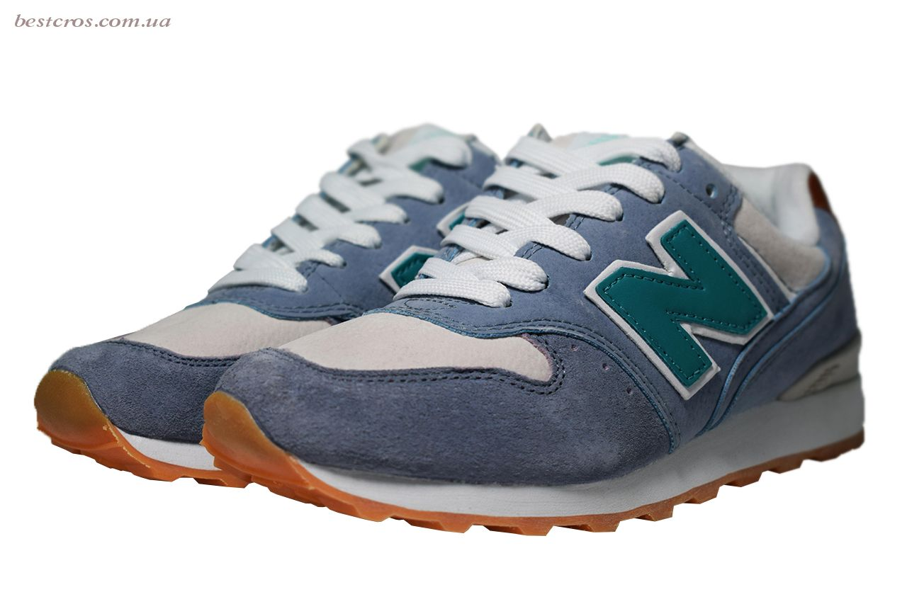 Женские кроссовки New Balance 576 Cream/Light blue/Grey - фото №5