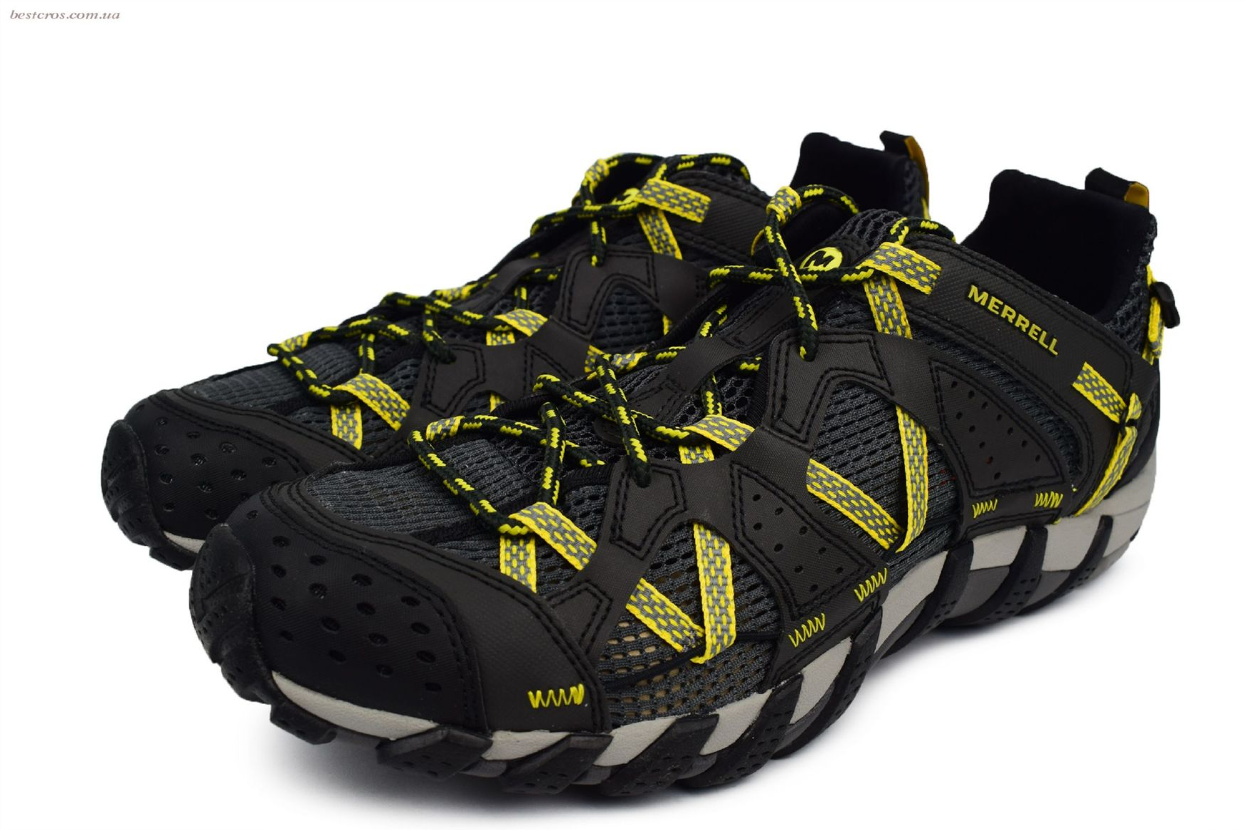 Мужские кроссовки Merrell Waterpro Maipo Black/Yellow - фото №6