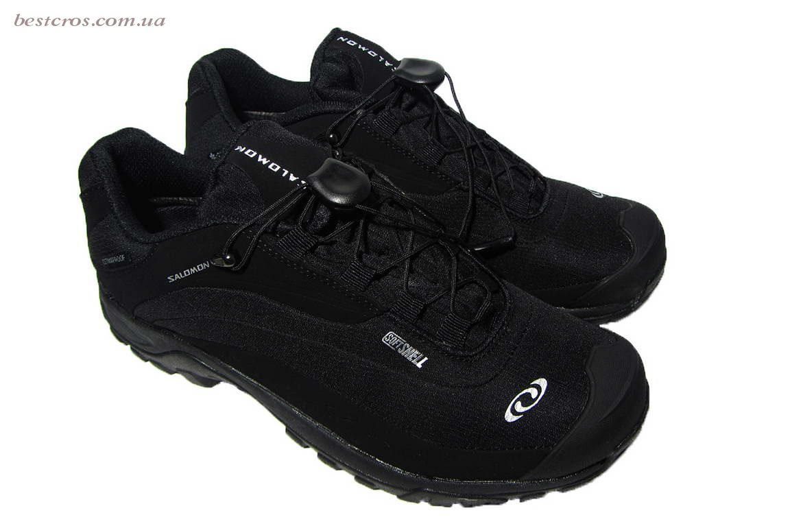 Мужские кроссовки  Salomon Gore-TEX Black/Light grey - фото №6