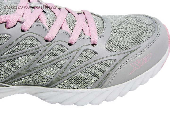 Женские кроссовки XTep Sports Shoes Light grey/Pink - фото №6