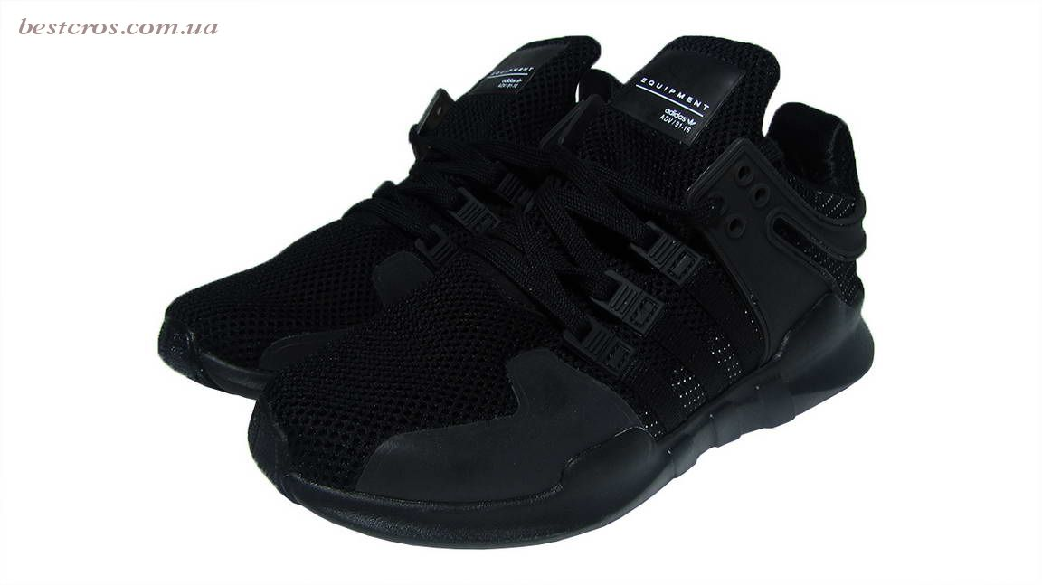 "Мужские кроссовки Adidas EQT Running Support x Consortium ""Black""   - фото №6"