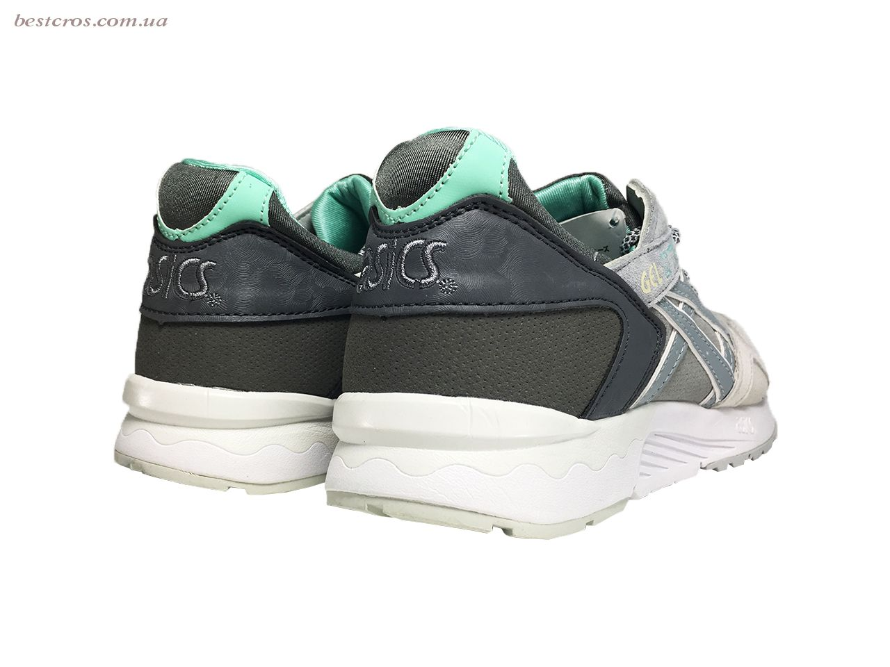 Мужские кроссовки Asics Gel Cream/Grey/Black/White/Light green - фото №6