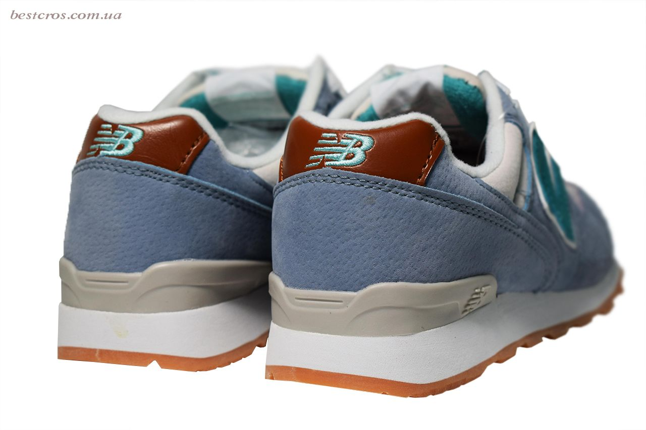 Женские кроссовки New Balance 576 Cream/Light blue/Grey - фото №6