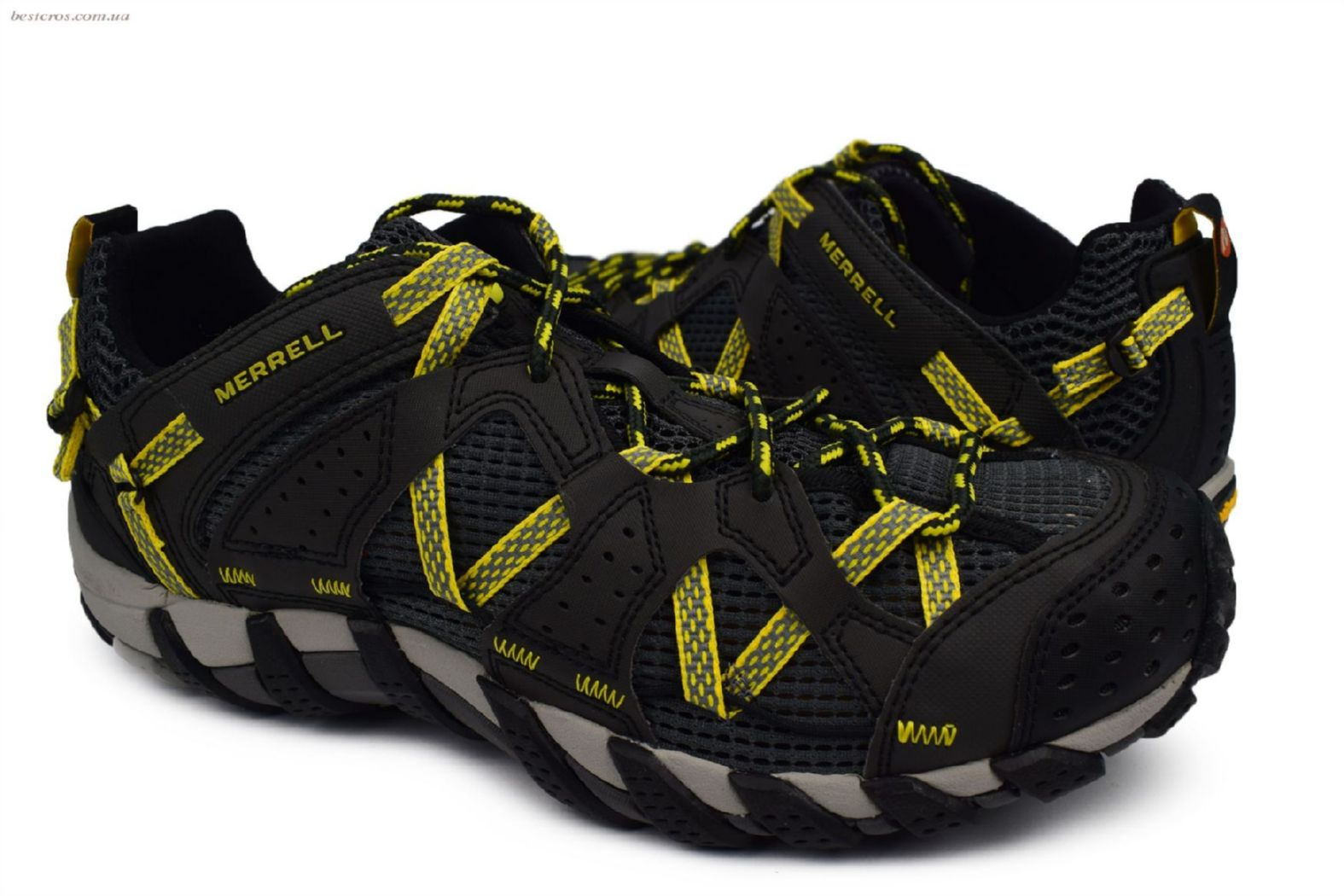Мужские кроссовки Merrell Waterpro Maipo Black/Yellow - фото №7