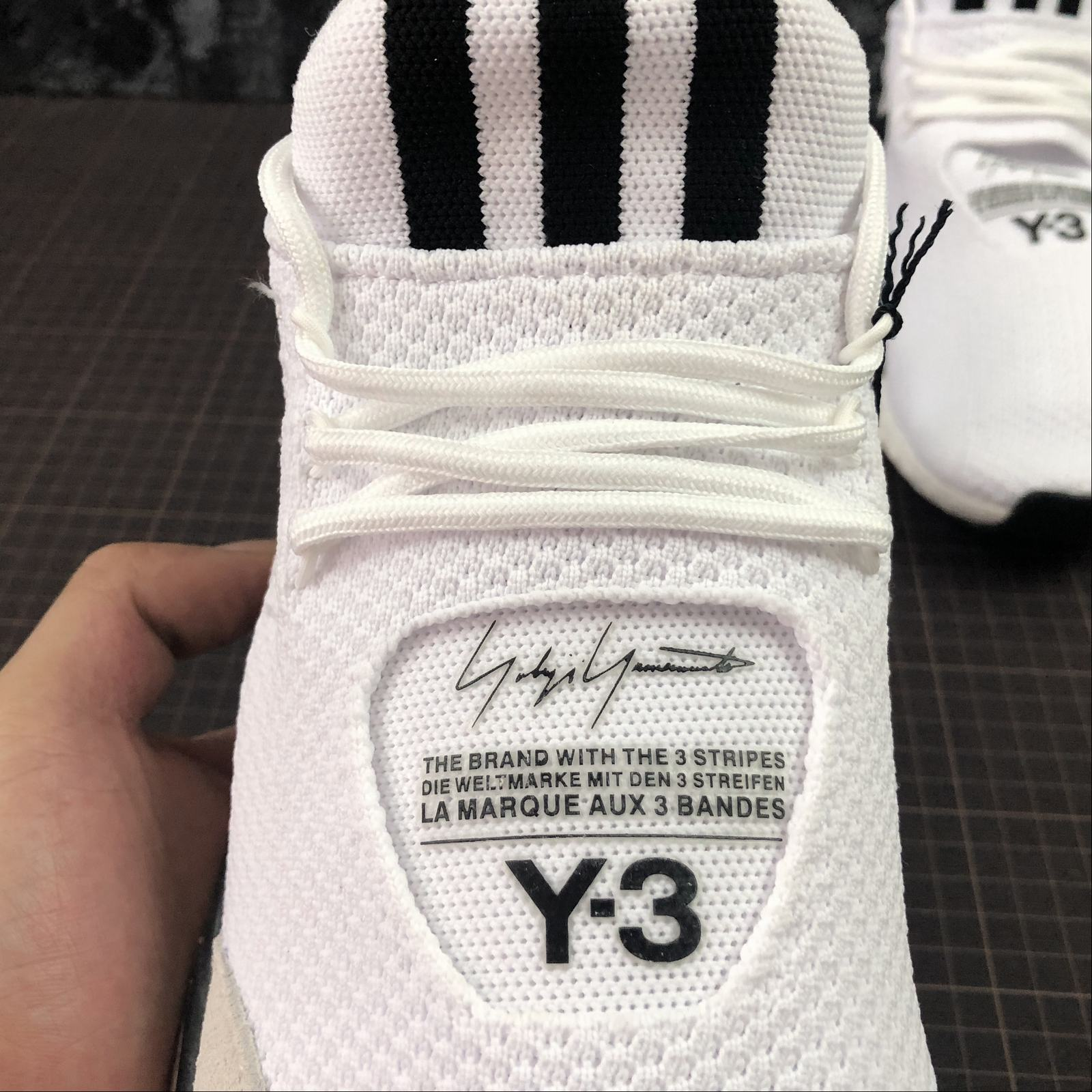 Мужские кроссовки Adidas Y-3 Saikou Boost Men White,Black,Black - фото №7