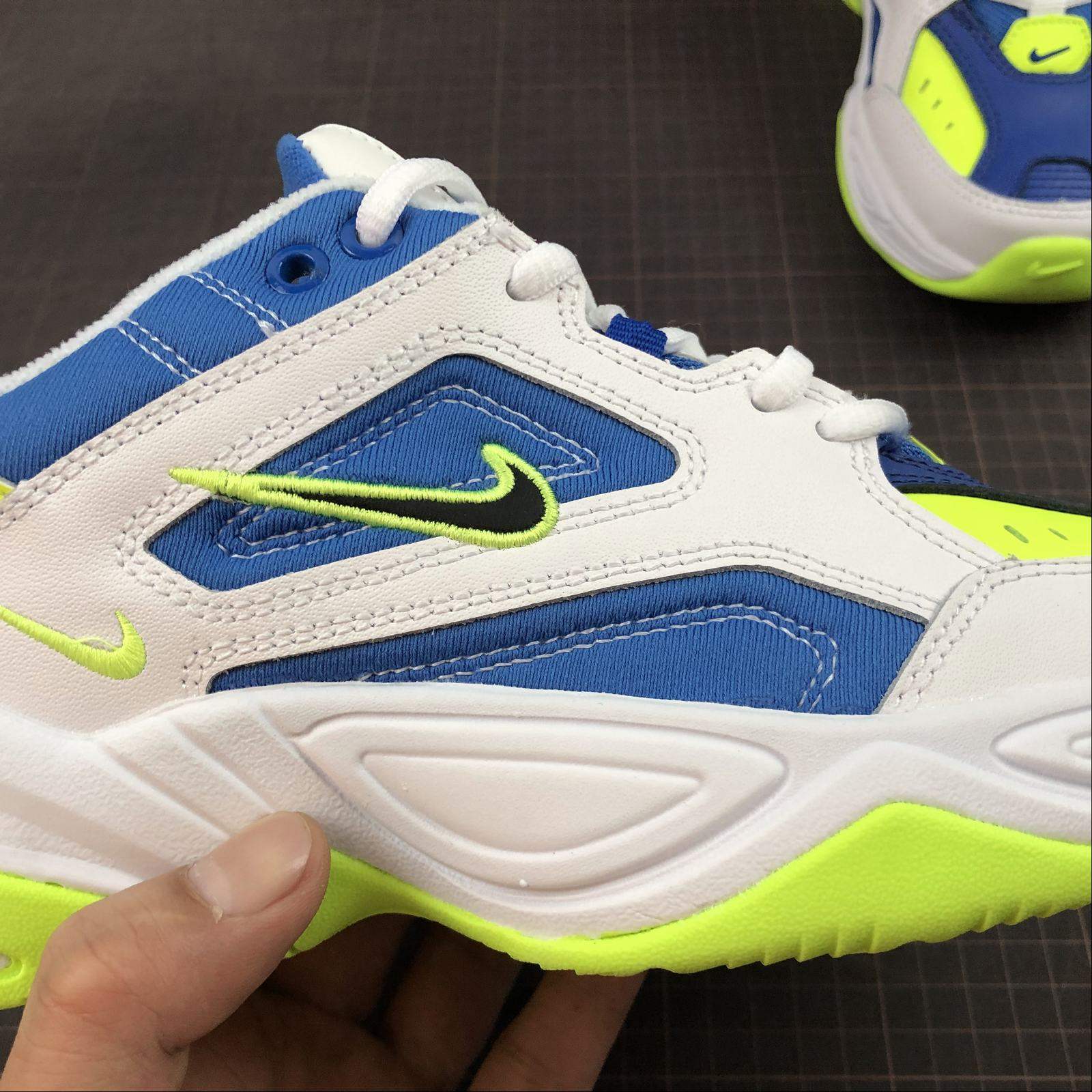 Мужские кроссовки Nike M2K Tekno Men White,Blue,Yellow - фото №8