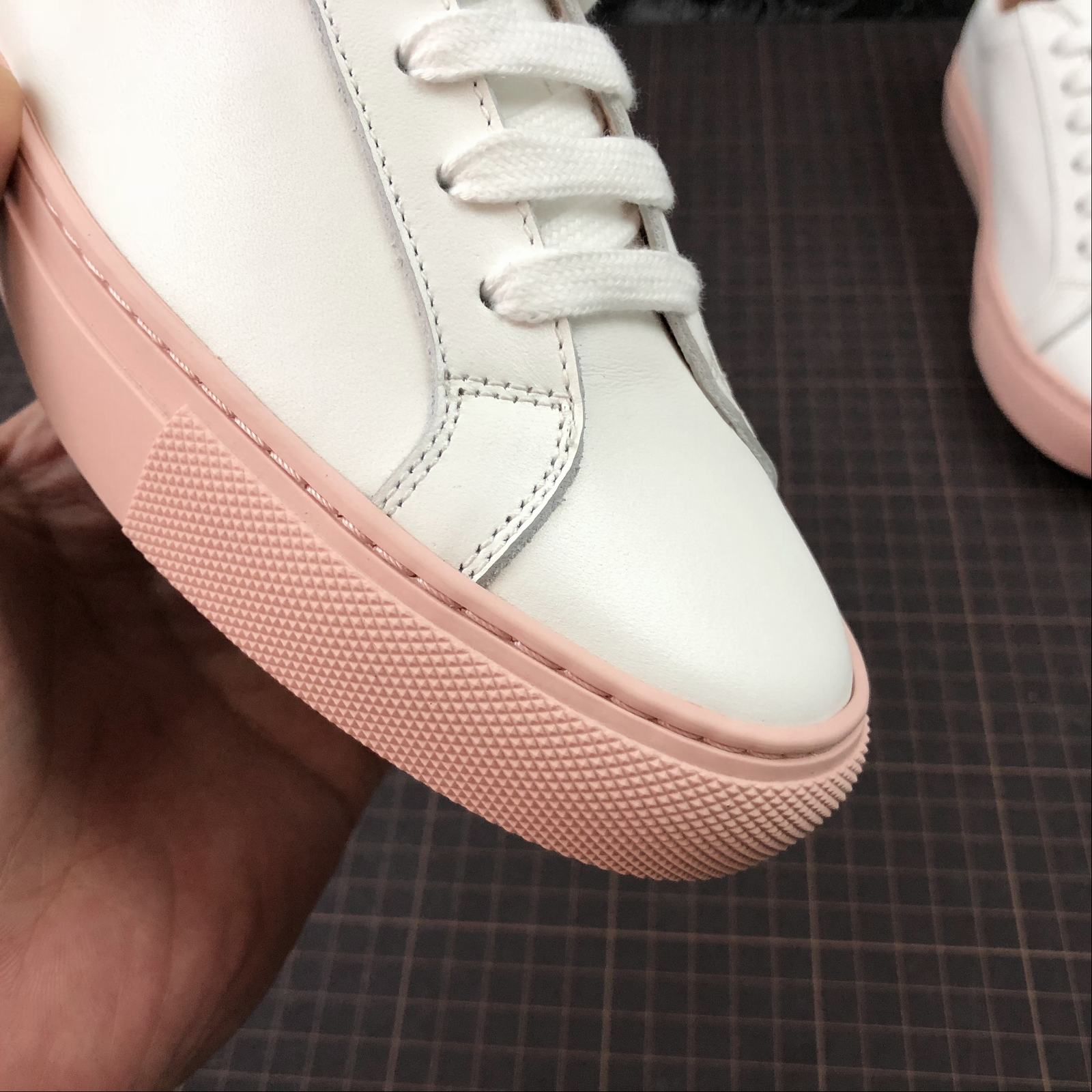 Женские кеды  Common Projects Achilles Low-Top Women White,Pink - фото №10
