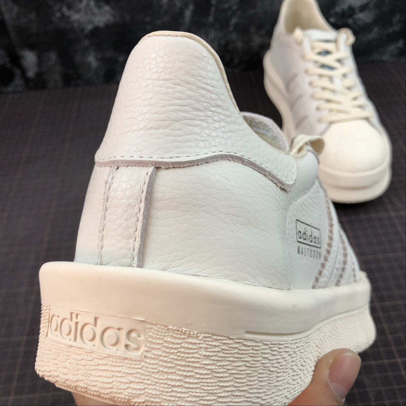 Мужские кроссовки Rick Owens x Adidas Mastodon Pro Model Ro Pearl low-top Men White,White with line - фото №9